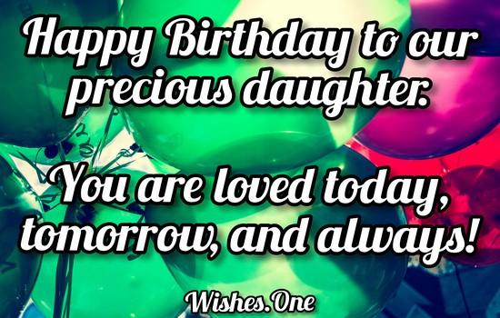 Happy Birthday Daughter Wishes
