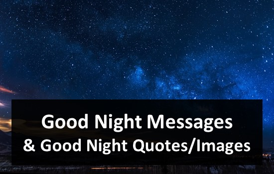 Good Night Messages Quotes Images