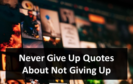 Never Give Up Quotes About Not Giving Up